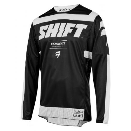 Shift 3LACK STRIKE JERSEY [BLK/WHT]